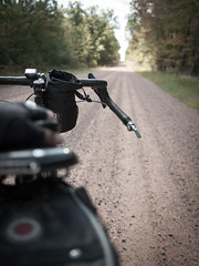 Gravel ahead (Citizen 4474) Tags: bike bicycle wisconsin rural bicycling sand midwest ride adventure explore b17 dirt biking remote salsa backroads subjects gravel brooks vaya feedbag clarkcounty banjobrothers woodchippers revelate