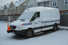 City of Ottawa C3-B378 Traffic Service MB Sprinter Nepean, Ontario Canada 02022013 Ian A. McCord (ocrr4204) Tags: white snow ontario canada fence nikon parkinglot ottawa coolpix vehicle pointandshoot parked van mccord nepean blanc mb trafficcones cones sprinter safetycones cityofottawa s9200 trafficservice ianmccord ianamccord