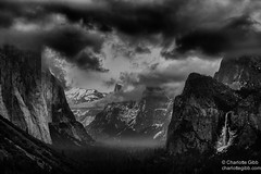 Yosemite Valley Winter (Charlotte Hamilton Gibb) Tags: california winter sunset storm places yosemite yosemitenationalpark yosemitevalley tunnelview clearingstorm yosemitenp weatherandseasons charlottegibbphotography