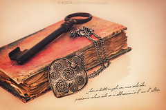"""from your Valentine"" (Kosta Dupcinov) Tags: old love canon photography 50mm book italian rust key day heart quote background valentine retro valentines february 14th unlock loved valentinesday handcraft stvalentine kosta nacklace dupcinov"