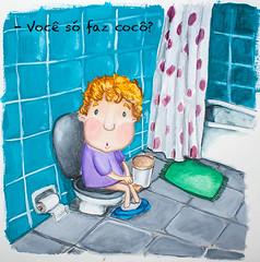 (-Meelow-) Tags: boy bathroom kid bath infantil sentado criança poo crayon gouache ilustração menino vaso banheiro privada guache toilete cocô toillet sitted