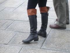 low heel over knee boots () Tags: black redbrown   overkneeboots