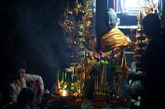 Bayon Buddha (William J H Leonard) Tags: building architecture buildings asian temple ruins shrine asia cambodia southeastasia cambodian khmer candid buddhist prayer pray praying buddhism siemreap angkor hindu hinduism buddhisttemple prayers incense hindutemple bayon angkorthom southeastasian angkorcomplex bayontemple candidportraiture earthasia