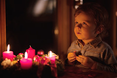 Making a Wish (Sharizah) Tags: christmas light boy portrait cute window childhood germany dark hair weihnachten deutschland fire photography sweater toddler infant warm candles advent child sweet fenster praying lifestyle tshirt indoor lookingup kind flame ornaments blond dreamy candlelight lit flamme kerzen available junge stripedshirt wishing niedlich 2yearold kindheit wishful haar dekoration 2years kerzenschein beten kleinkind 2jahre vertrumt ss innenaufnahme 3rdadvent wnschen gestreifteshemd 2jhrig dunkelblondes 3candleslit