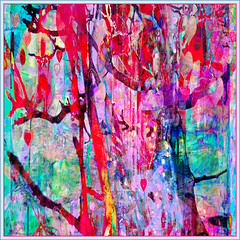 Hearts Tree Forest (Tim Noonan) Tags: blue red abstract colour yellow digital photoshop heart drawing turquoise vibrant details violet brushes expressionism hypothetical vividimagination shockofthenew trolled stickybeak newreality sharingart awardtree maxfudgeawardandexcellencegroup magiktroll exoticimage digitalartscene netartii donnasmagicalpix