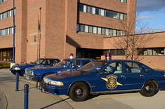 1995 Chevrolet Caprice Michigan State Police car (Corvair Owner) Tags: blue ford chevrolet car training truck state michigan police camaro cop dodge 1995 mustang suv academy charger caprice