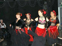 Its the tribal dancers. (Lidolil) Tags: costumes tribal graceful flowersinyourhair verylargefullskirts
