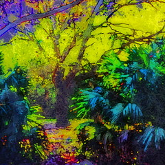 Sunrise in the Park II (hollykl) Tags: trees abstract photomanipulation sunrise square digitalart hypothetical wardpark artdigital arteffects shockofthenew sharingart awardtree vanagram crazygeniuses netartii