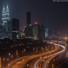 From Berembang at night (azirull amin aripin) Tags: urban building architecture nikon nightscape petronas nightshoot malaysia kualalumpur nikkor klcc d90 petronastwintower nightcityscape