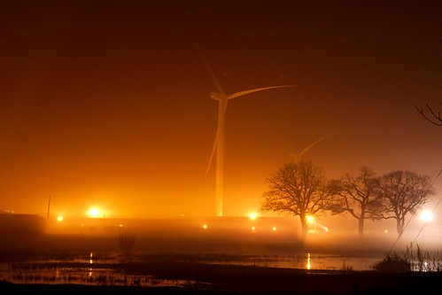 Wind Turbine in the mist