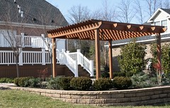 "Paver patio, retaining wall, pergola, new lower deck • <a style=""font-size:0.8em;"" href=""http://www.flickr.com/photos/22274533@N08/8520663295/"" target=""_blank"">View on Flickr</a>"