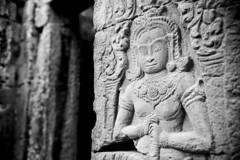C044 Banteay Kdei (VesperTokyo) Tags: blackwhite asia cambodia angkorwat buddhisttemple angkorthom banteaykdei