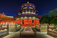 The Temple of Heaven's Closeup (TheTimeTheSpace) Tags: china light night stars epcot nikon disney disneyworld waltdisneyworld templeofheaven hdr d800 worldshowcase matthewcooper photomatix thetimethespace