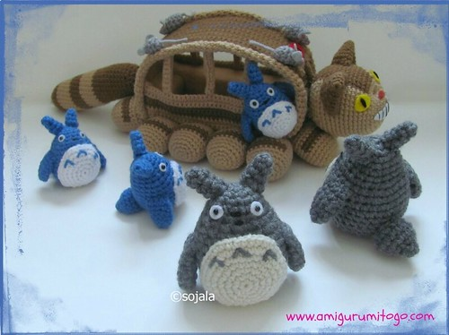 Totoro and Soot Sprites Crochet Pattern With Video | 374x500