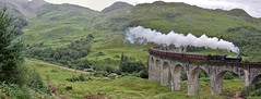 62005 crosses Glenfinnan Viaduct with the Jacobite (96tommy) Tags: camera uk england panorama mountain west slr london car digital train canon eos coast scotland flying track fort britain south united hill great north traction engine harry potter sigma rail railway kingdom william lord class steam viaduct east hills company engines locomotive railtour dslr eastern railways isles thompson glenfinnan charter k1 the peppercorn mallaig soctland jacobite lner 62005 of 60d wcrc 2y61