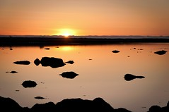At the end of the day (Kristin Sig) Tags: winter sunset orange iceland seaside afternoon
