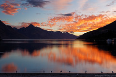 20130303-01-Sunset over Lake Wakatipu from Queenstown (Roger T Wong) Tags: sunset newzealand sky lake reflection water clouds southisland otago queenstown lakewakatipu canonef24105mmf4lisusm canon24105 canoneos6d