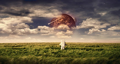 What I Dreamed Of (www.dmeene.de) Tags: fiction field grass space dream surreal astronaut science scifi cosmos cosmonaut