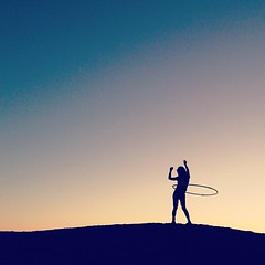 Hula-hooping in the sunset (snippets_from_suburbia) Tags: california nightphotography silhouette square nashville desert squareformat saltonsea iphoneography instagramapp uploaded:by=instagram