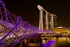 2013-03-15 Marina Bay NightScape 4 (Aaron.Cheng.TP) Tags: travel bridge art lines marina landscape lights bay nikon singapore cityscape nightscape science helix tamron leading along mbs d800 2875