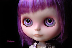 Fleur (Melacacia - Please no FMs) Tags: march spring eyes doll hand purple painted fringe blythe bangs custom asymmetrical crooked 2013 melacacia