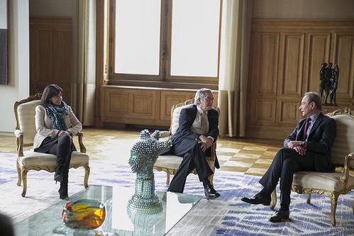 Amb l'Alcalde de París, Bertrand Delanoë