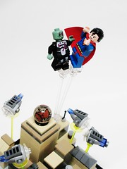 Kal-El vs. Brainiac (Julius No) Tags: lego superman metropolis vs kalel brainiac