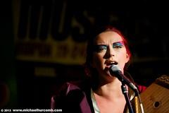 Charlotte Church (michaelhurcomb.com) Tags: toronto bar club singing stage band pop singer classical celtic cmw eyemakeup elmocambo charlottechurch musicalperformance canadianmusicweek classicalcrossover operaticpop