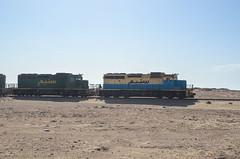 Longest iron ore train in Mauritania, Nouadhibou (jbdodane) Tags: africa sahara bicycle train cycling desert longest velo mauritania snim day138 mauritanie ironore cyclotourisme cycletouring nouadhibou zouerat freewheelycom