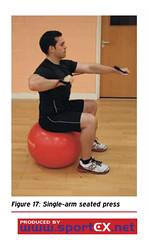 Single-arm seated press (sportEX journals) Tags: injury massage therapy dynamics rehabilitation sportex