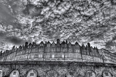 Jeffrey Street reworked black & white (elementalPaul) Tags: sky clouds scotland edinburgh pentax tripod hdr sigma1020mm photomatixpro 5xp k10d pentaxk10d jeffreystreet