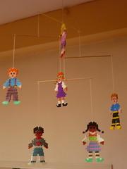 mobile (Gertie Jaquet) Tags: mobile children beads kinderen enfants kralen strijkkralen ironingbeads perlesrepasser