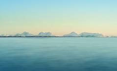 Mountains in pastel (kkorsan) Tags: longexposure winter mountain snow seascape water norway norge nikon srtrndelag d3 frya titran 2013 tustna nikond3 hoyandx400 stabben centralnorway