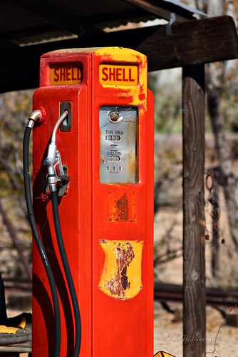 Retired Shell Gas Pump in Chloride, Arizona