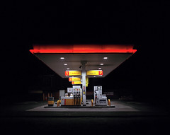 Shell Forecourt (Dan Parratt) Tags: mamiya film night mediumformat photography kodak garage shell gas gasstation uca iso 400 resolution petrol ruscha fuel farnham consumption petrolstation forecourt rz67 edruscha royaldutchshell mamiyarz67 finalmajorproject twentysixgasolinestations universityforthecreativearts 26gasstations 26gasolinestations twentysixgasstations