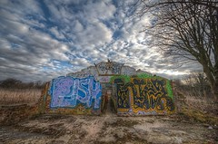 House of Graffiti (inreflection) Tags: clouds graffiti nikon ruins nef sigma wideangle northyorkshire sigma1224 nikoncapture nikondslr nikond600 sigma1224f4556mkiidghsm