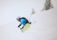 Leaning in the turn (iorus and bela) Tags: winter france snowboarding march skiing powder riding bela flaine offpiste hautesavoie deepsnow 2013 grandmassif iorus skiintheforrest forrestinsnow