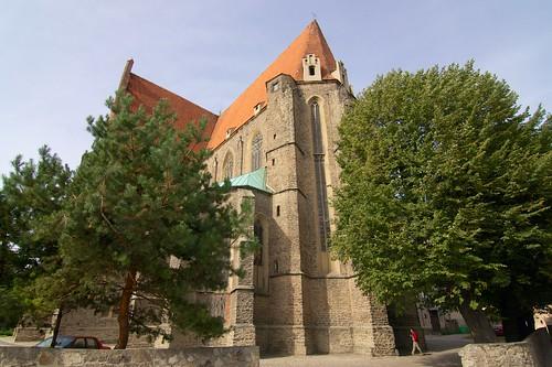 Kościół śś. Piotra i Pawła w Strzegomiu od południowego wschodu