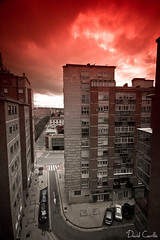 Apocalipsis en la ciudad v1 (Krrillo) Tags: red david canon eos rojo sigma paisaje 7d angular 1020 burgos carrillo filtro 10mm apocalipsis krrillo