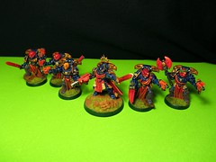 Sternguard Veterans & Captain of the 2nd Company. (AKASteveUK) Tags: 40k warhammer spacemarines gamesworkshop bodyguards spacemarine sternguard unitymarines sternguardsquad veteransquad