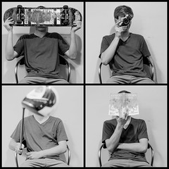 You Are What You Do (Eric Fryc) Tags: selfportrait quad quadtych vneck boy teen skateboard camera 35mm golf thecatcherintherye canon eos rebel t3i 600d tamron 2875 f28
