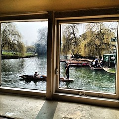 Viewfromthewindow (CamMonkeh) Tags: cambridge light window river square boats with image created squareformat posh punting rivercam viewfromthewindow iphoneography instagramapp uploaded:by=instagram snapseed