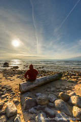 Lakeshore Log ... a place to ponder (Ken Scott) Tags: sunset usa spring log michigan lakemichigan greatlakes april freshwater voted contemplation selfie leelanau kenscott 2013 manitouislands fhdr sbdnl sleepingbeardunenationallakeshore mostbeautifulplaceinamerica conchemtrails