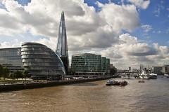 London City Hall and The Shard (Kamison) Tags: city england london thames canon river hall mayor side shard arquitecture digitalcameraclub