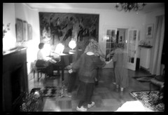 Christmas (Area Bridges) Tags: christmas family blackandwhite dance dancing pentax grandmother sweden 1988 scan negative scanned asa fullframe eliasson grandmothers mesuper orwo djursholm