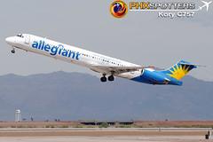 Allegiant MD-83 N877GA (KoryC757) Tags: arizona phoenix gateway mesa mcdonnelldouglas aza md80 iwa allegiantair n877ga phxspotters