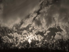 Ragged Sky... (Sea Moon) Tags: sun sunlight clouds golden afternoon dramatic windy sunburst shining brilliant