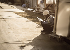 At Work (KevinEganPhotos) Tags: light person construction shadows worker    d600 2870mmf284