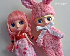 She is lovable, adorable and hug-able ! (air-doll) Tags: bunny doll blythe nellie francoise fa nibbles nn ananassa middie francoiseananassa nellienibbles