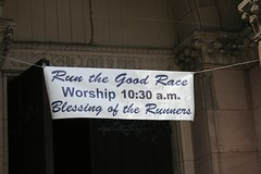 blessing of the runners (Erica Fletcher) Tags: boston newburystreet copley backbay bostonmarathon churchofthecovenant 2013